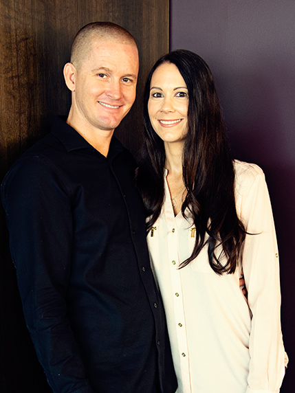 Pastor Erin Sain & his wife Janel